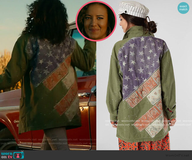Spruce Military Shirt Jacket by Free People worn by Maria DeLuca (Heather Hemmens) on Roswell New Mexico