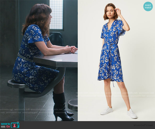 Rachelle Meadow Belted Dress by French Connection worn by Judy Hale (Linda Cardellini) on Dead to Me