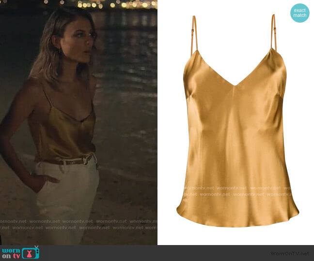 Sophia camisole by Gilda & Pearl worn by Noa Hamilton (Nathalie Kelley) on The Baker & the Beauty