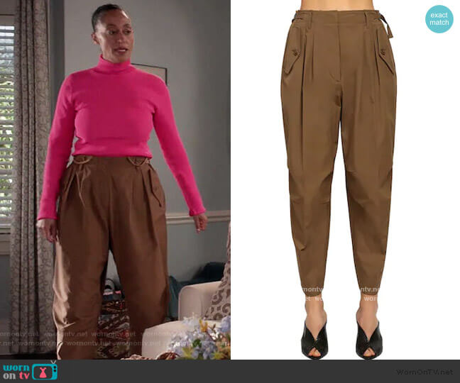 High Waist Cotton Canvas Cargo Pants by Givenchy worn by Rainbow Johnson (Tracee Ellis Ross) on Blackish