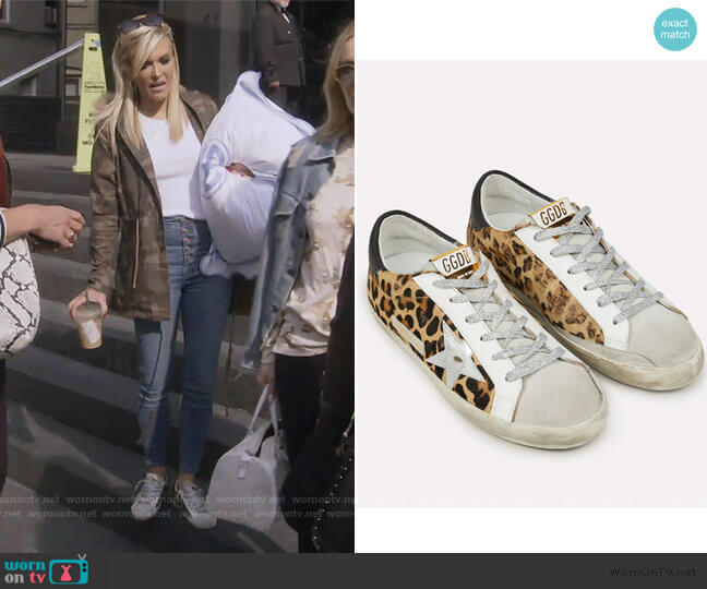 Superstar Leopard Sneakers by Golden Goose worn by Tinsley Mortimer  on The Real Housewives of New York City