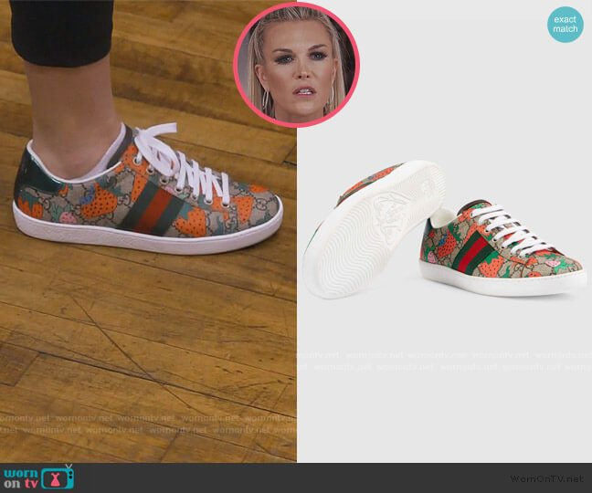 Ace GG Gucci Strawberry sneaker by Gucci worn by Tinsley Mortimer  on The Real Housewives of New York City