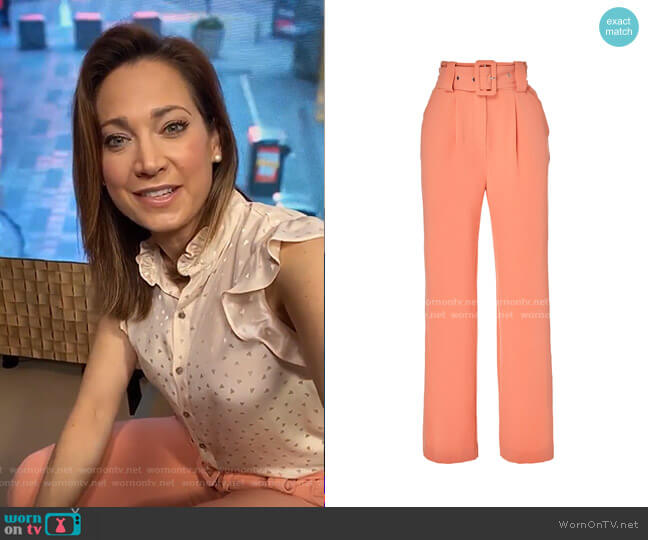 Elisea Pants by Hofmann Copenhagen worn by Ginger Zee  on Good Morning America