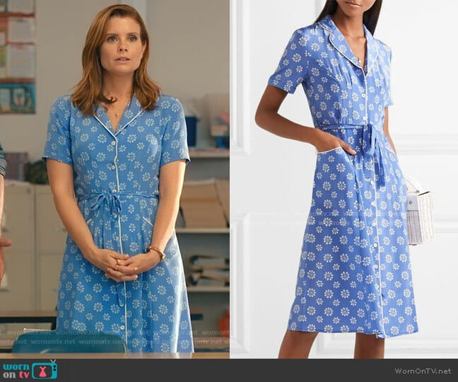 Maria Floral Print Shirtdress by HVN worn by Maddie Townsend (JoAnna Garcia Swisher) on Sweet Magnolias