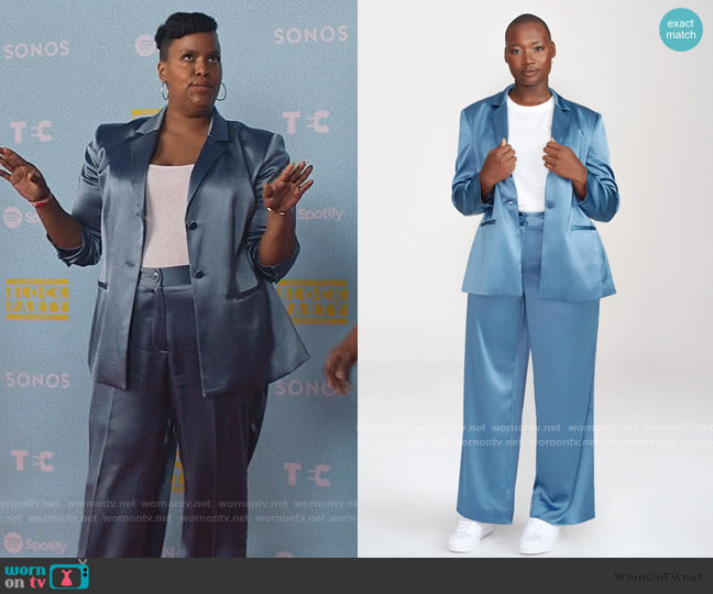 Rally Blazer and Pants by Henning worn by Natasha Rothwell on Insecure