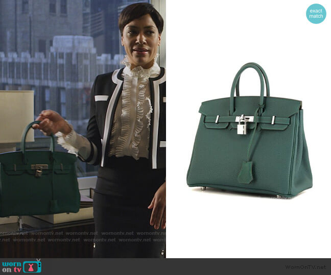 Birkin 30 Bag by Hermes worn by Lucca Quinn (Cush Jumbo) on The Good Fight
