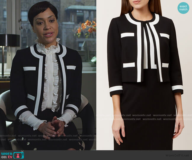 Jackie Jacket by Hobbs London worn by Lucca Quinn (Cush Jumbo) on The Good Fight
