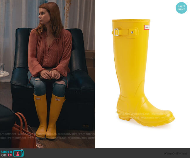 Original Tall Waterproof Rain Boot by Hunter worn by Maddie Townsend (JoAnna Garcia Swisher) on Sweet Magnolias