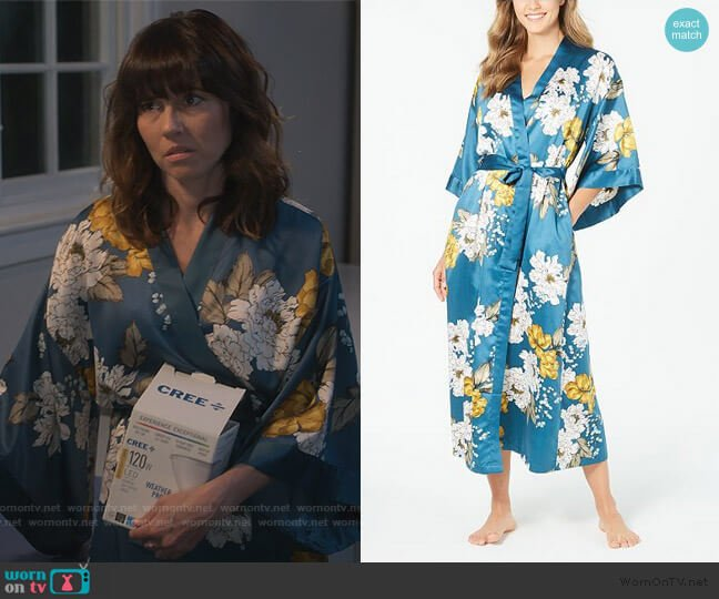 Floral-Print Kimono Robe by INC International Concepts worn by Judy Hale (Linda Cardellini) on Dead to Me