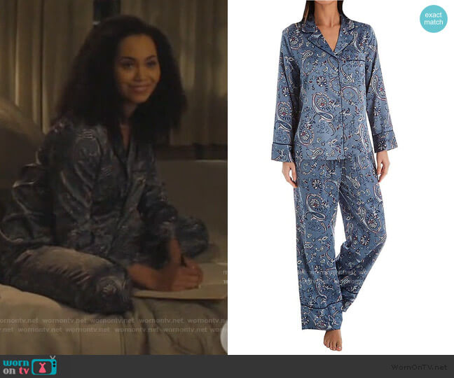 Whistler Paisley PJ Set by In Bloom worn by Macy Vaughn (Madeleine Mantock) on Charmed