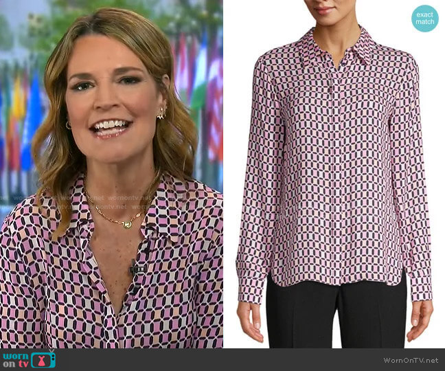 Ingunn Shirt by Elie Tahari worn by Savannah Guthrie  on Today