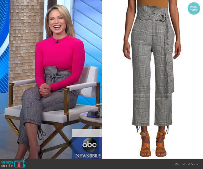 Isadora Pants by Marissa Webb worn by Amy Robach  on Good Morning America
