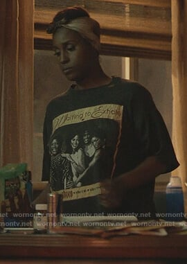 Issa's black Waiting to Exhale tee on Insecure
