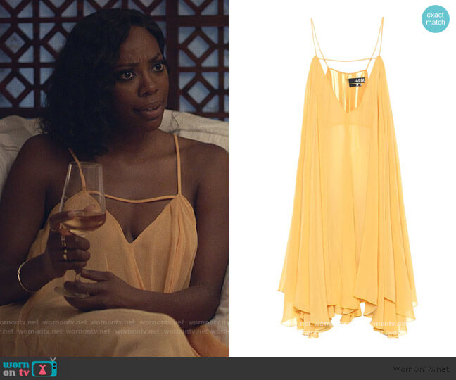 La Petite Robe Bellezza minidress by Jacquemus worn by Molly Carter (Yvonne Orji) on Insecure