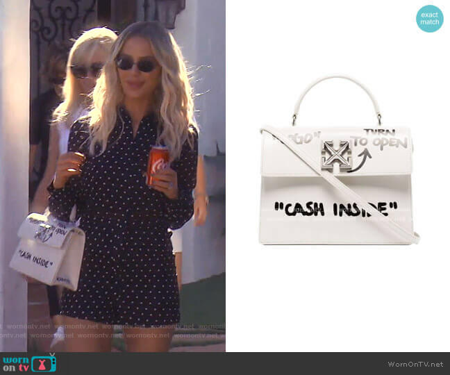 Jitney 2.8 Cash Inside Bag by Off-White worn by Dorit Kemsley  on The Real Housewives of Beverly Hills