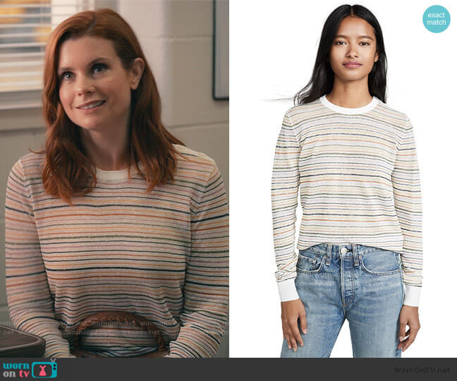 Ade Sweater by Joie worn by Maddie Townsend (JoAnna Garcia Swisher) on Sweet Magnolias