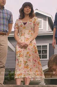 Judy's floral button down dress on Dead to Me