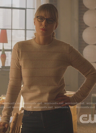 Kara's striped sweater on Supergirl