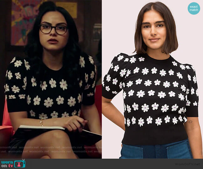 Marker Floral Sweater by Kate Spade worn by Veronica Lodge (Camila Mendes) on Riverdale