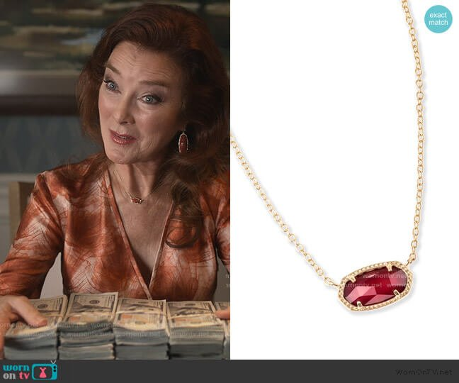Elisa Pendant Necklace by Kendra Scott worn by Lorna Harding (Valerie Mahaffey) on Dead to Me