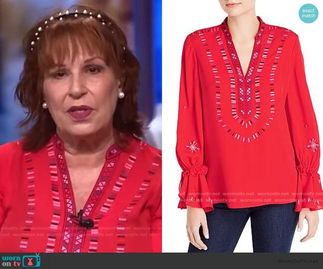 Junie Embroidered Blouse by Kobi Halperin worn by Joy Behar  on The View