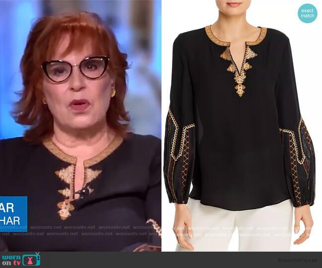 Yasmina Silk Blouse by Kobi Halperin worn by Joy Behar  on The View