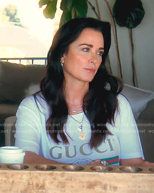 Kyle's Gucci logo tee on The Real Housewives of Beverly Hills