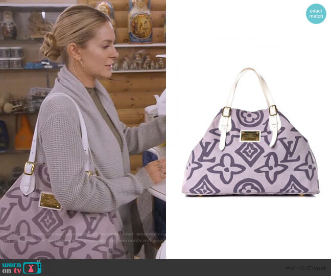 Tahitienne Cabas GM Lilac by Louis Vuitton worn by Leah McSweeney  on The Real Housewives of New York City