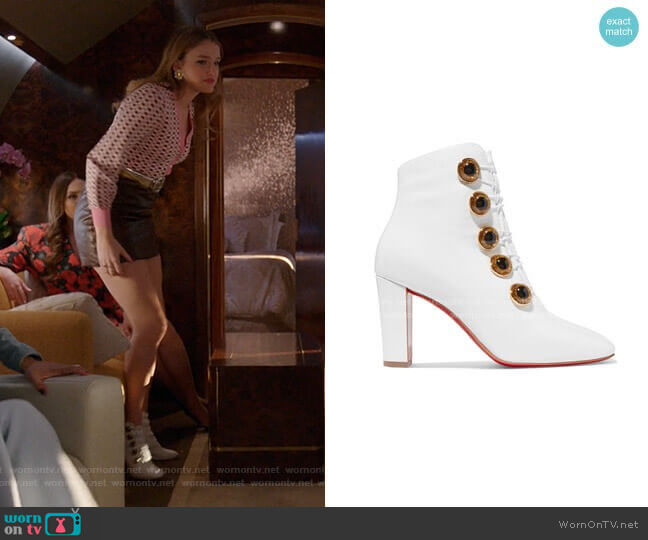 ady See Ankle Boots by Christian Louboutin worn by Kirby Anders (Maddison Brown) on Dynasty