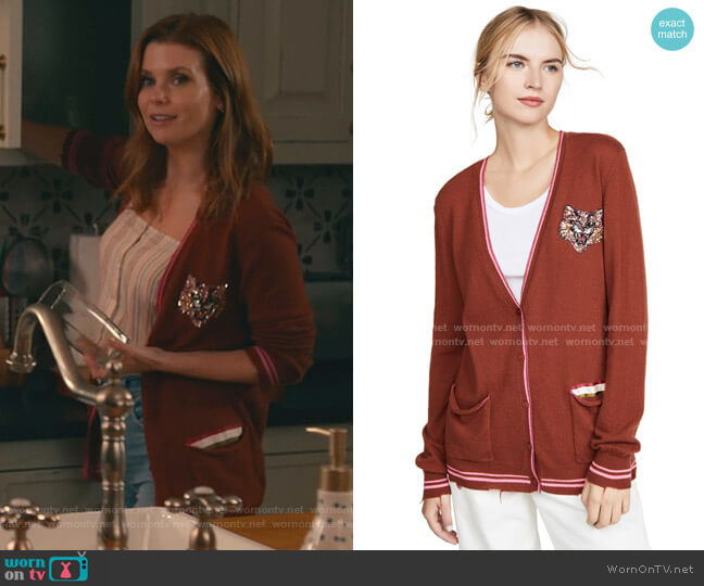 Silly Tiger Cashmere Sweater by Le Superbe worn by Maddie Townsend (JoAnna Garcia Swisher) on Sweet Magnolias