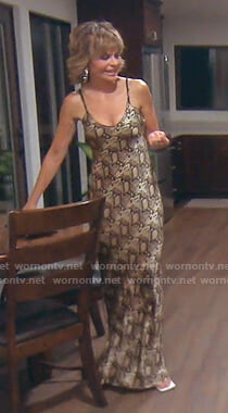 Lisa's snake print maxi dress on The Real Housewives of Beverly Hills