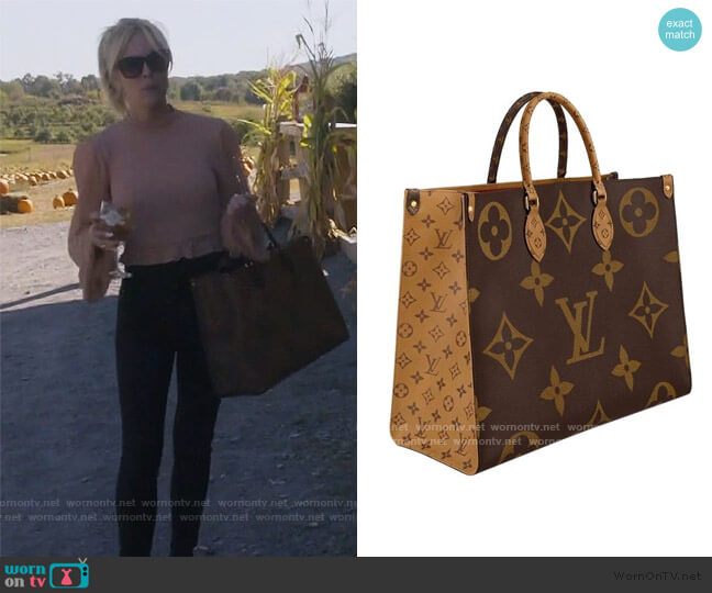 Onthego Monogram Tote by Louis Vuitton worn by Tinsley Mortimer  on The Real Housewives of New York City