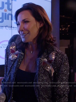 Luann's bird sequin embellished bomber jacket on The Real Housewives of New York City