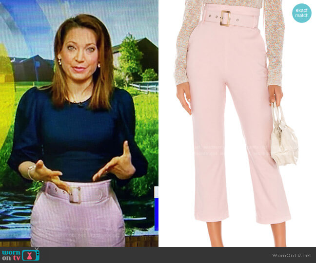 Camden Pant by Majorelle worn by Ginger Zee  on Good Morning America