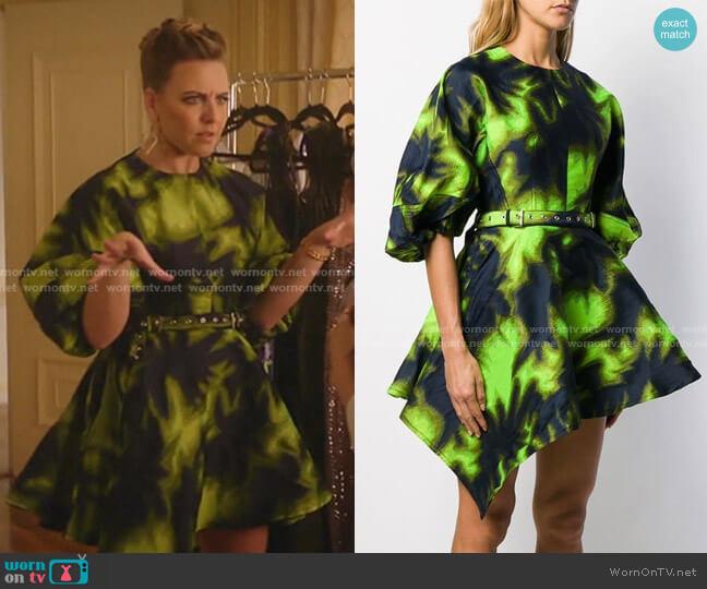 Printed Asymmetric Dress by Marques Almeida worn by Amanda (Helene Yorke) on Katy Keene