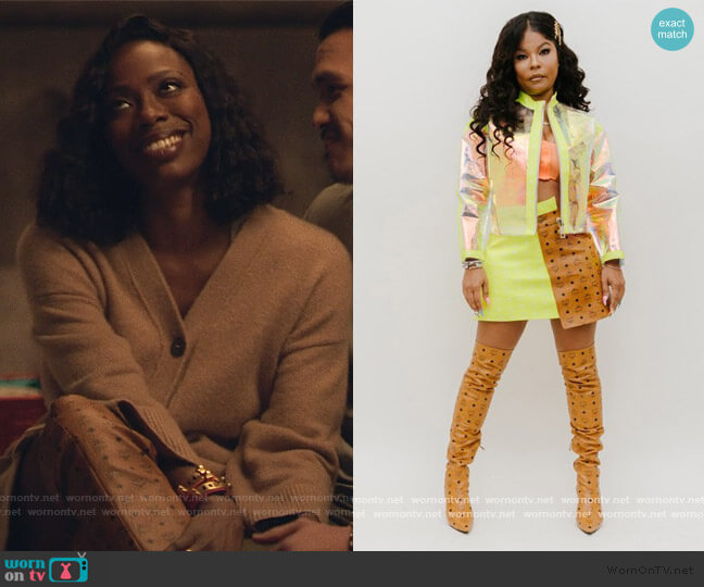 Print Boots by MCM x Misa Hylton worn by Molly Carter (Yvonne Orji) on Insecure