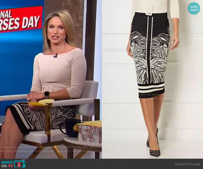 Melodia Sweater Skirt - Eva Mendes Collection by New York & Company worn by Amy Robach  on Good Morning America