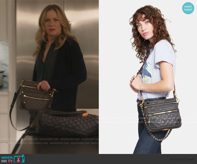 Downtown Crosby Crossbody Bag by MZ Wallace worn by Jen Harding (Christina Applegate) on Dead to Me