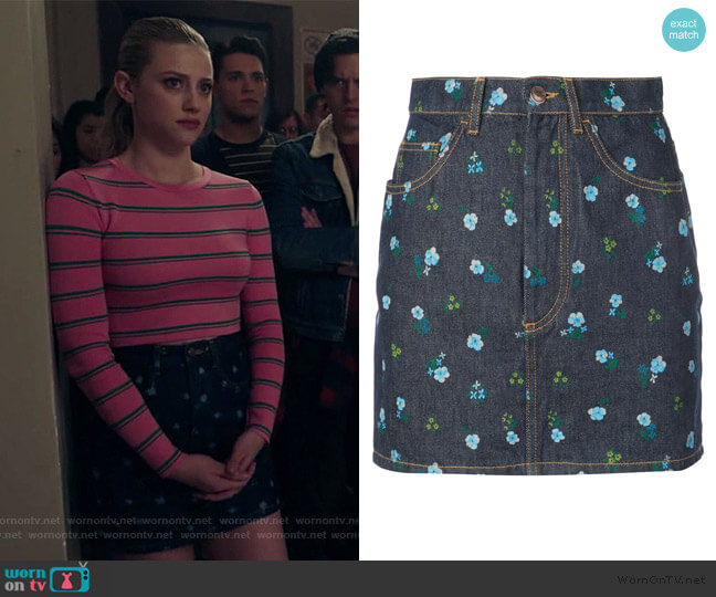 The Mini floral print skirt by Marc Jacobs worn by Betty Cooper (Lili Reinhart) on Riverdale