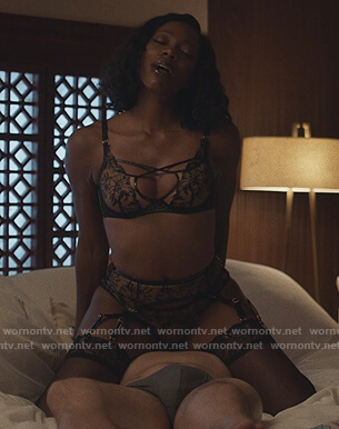 Molly's black lace lingerie on Insecure