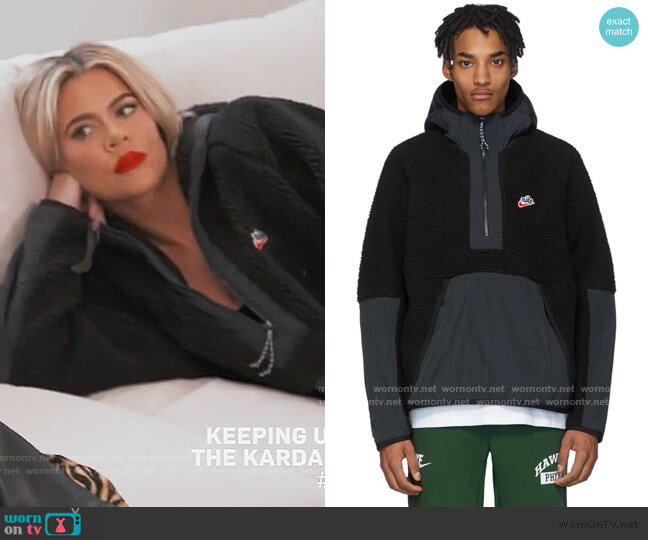 Sherpa Fleece Pullover by Nike worn by Khloe Kardashian  on Keeping Up with the Kardashians