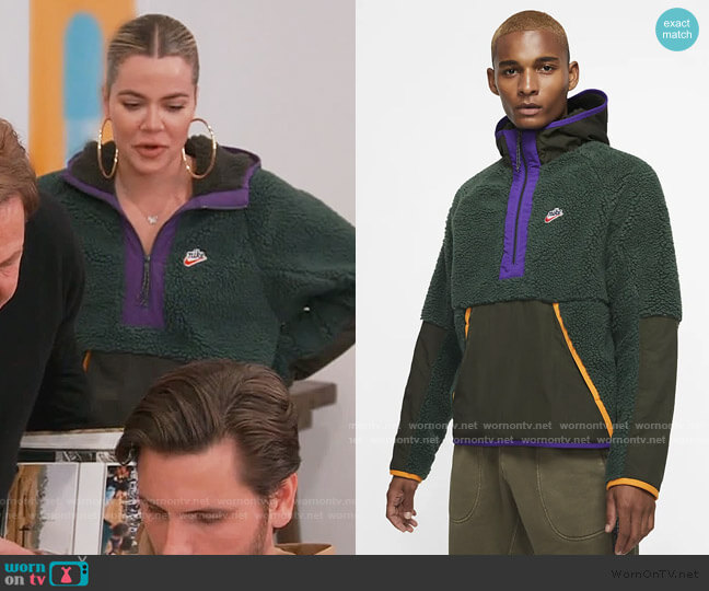 1/2 Zip Hoodie by Nike worn by Khloe Kardashian  on Keeping Up with the Kardashians