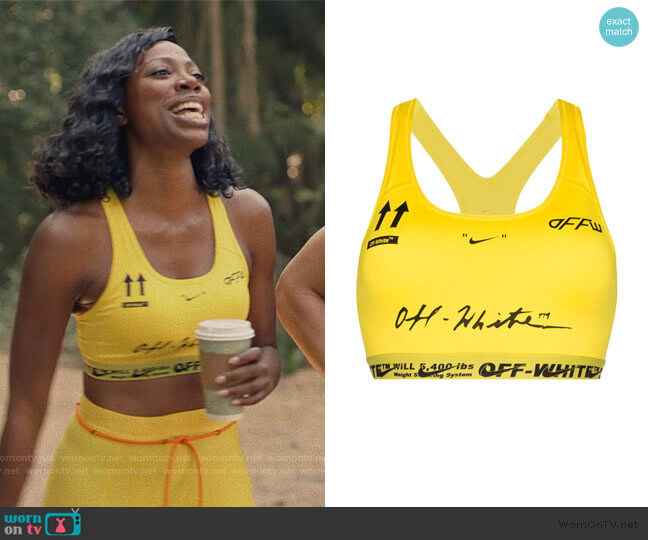 Nike Logo Print Sports Bra by Off-White worn by Molly Carter (Yvonne Orji) on Insecure
