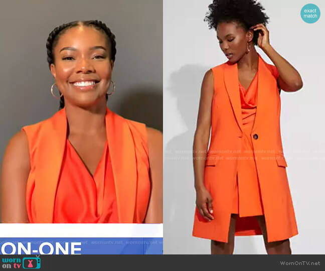 One-Button Vest - Gabrielle Union Collection by New York & Company on GMA