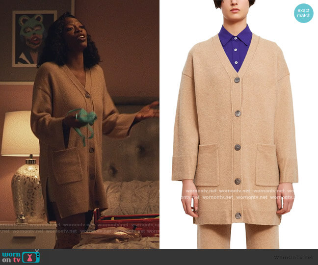 Cashmere Cardigan by Opening Ceremony worn by Molly Carter (Yvonne Orji) on Insecure