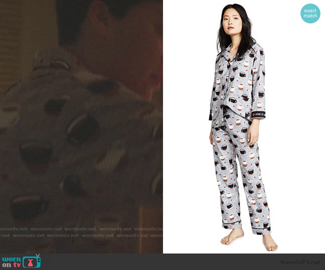 Coffee Is Life Flannel PJ Set by PJ Salvage worn by Lucca Quinn (Cush Jumbo) on The Good Fight