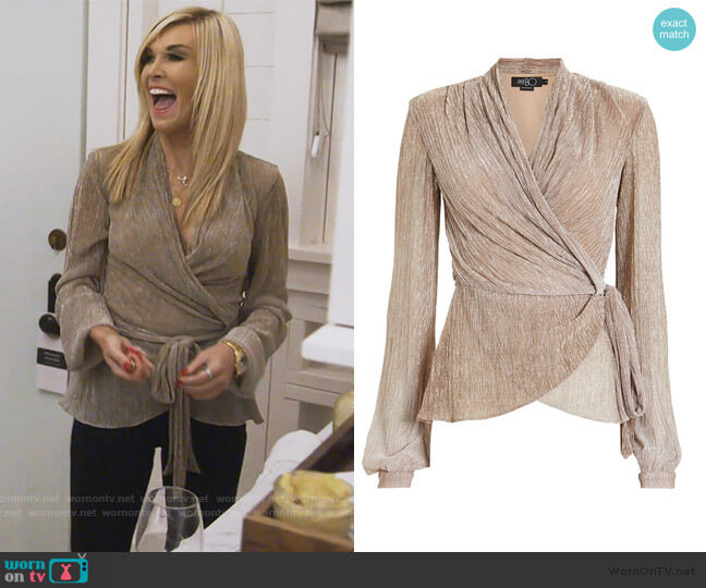 Ombre Lurex Wrap Top by PatBO worn by Tinsley Mortimer  on The Real Housewives of New York City