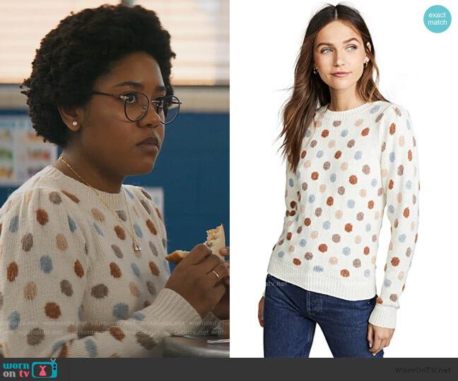 Jacquard Sweater by La Vie Rebecca Taylor worn by Beth Chapel (Anjelika Washington) on Stargirl