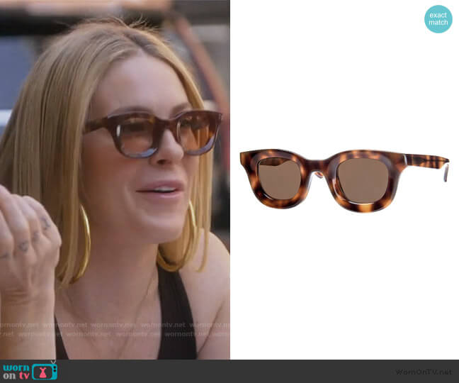 Rhodeo Tortoise Sunglasses by Thierry Lasry worn by Leah McSweeney  on The Real Housewives of New York City