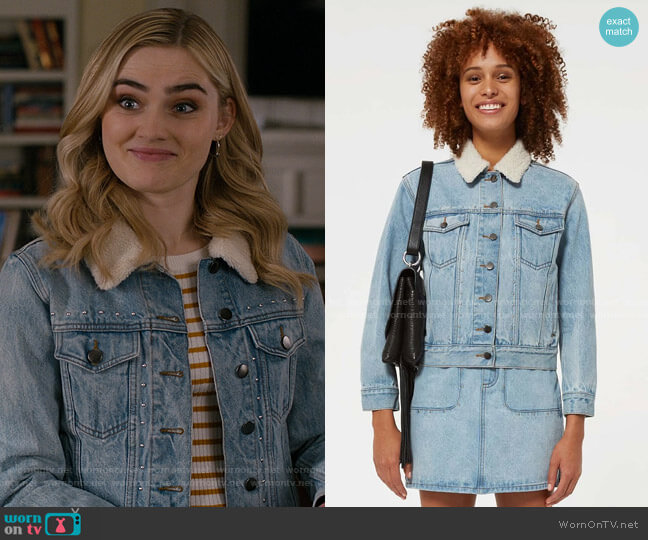 Clark Jacket by Rebecca Minkoff worn by Taylor Otto (Meg Donnelly) on American Housewife